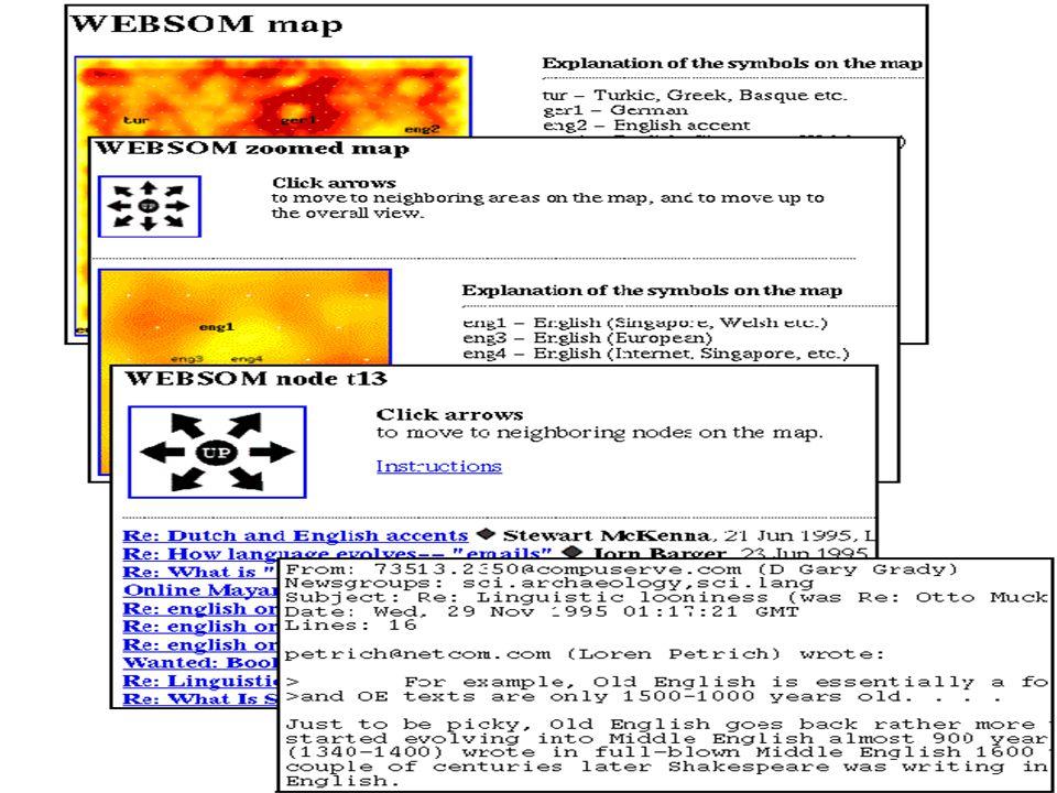 51 Funzionamento di WEBSOM