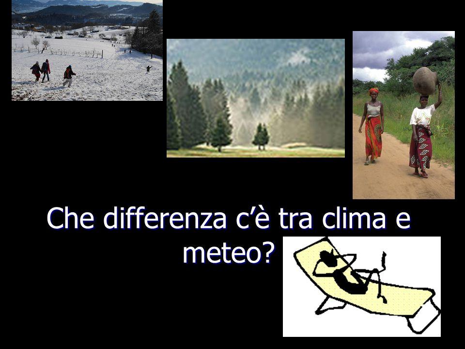 Che differenza c'è tra clima e meteo?
