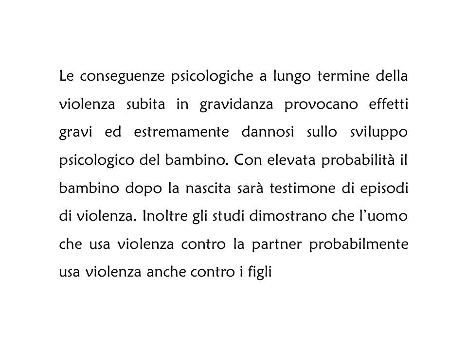 Le conseguenze dell'esposizione alla violenza di un bambino hanno devastanti e pervasivi effetti sul suo sviluppo fisico, psicologico, cognitivo e del linguaggio (Carpentel G.L., Stack A.M., 2009)