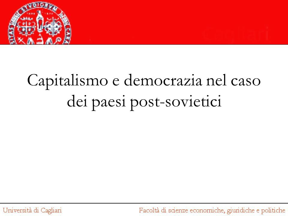 Capitalismo e democrazia nel caso dei paesi post-sovietici