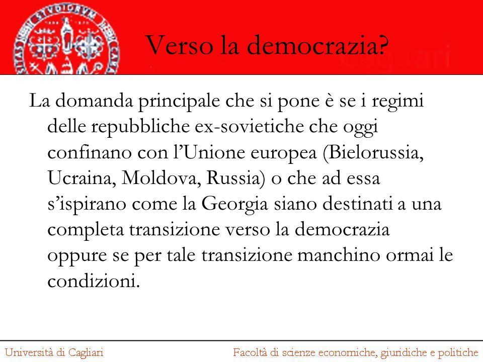 Verso la democrazia? La domanda principale che si pone è se i regimi delle repubbliche ex-sovietiche che oggi confinano con l'Unione europea (Bielorus