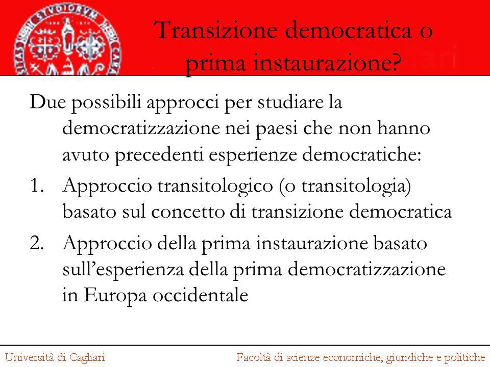 Transizione democratica o prima instaurazione? Due possibili approcci per studiare la democratizzazione nei paesi che non hanno avuto precedenti esper