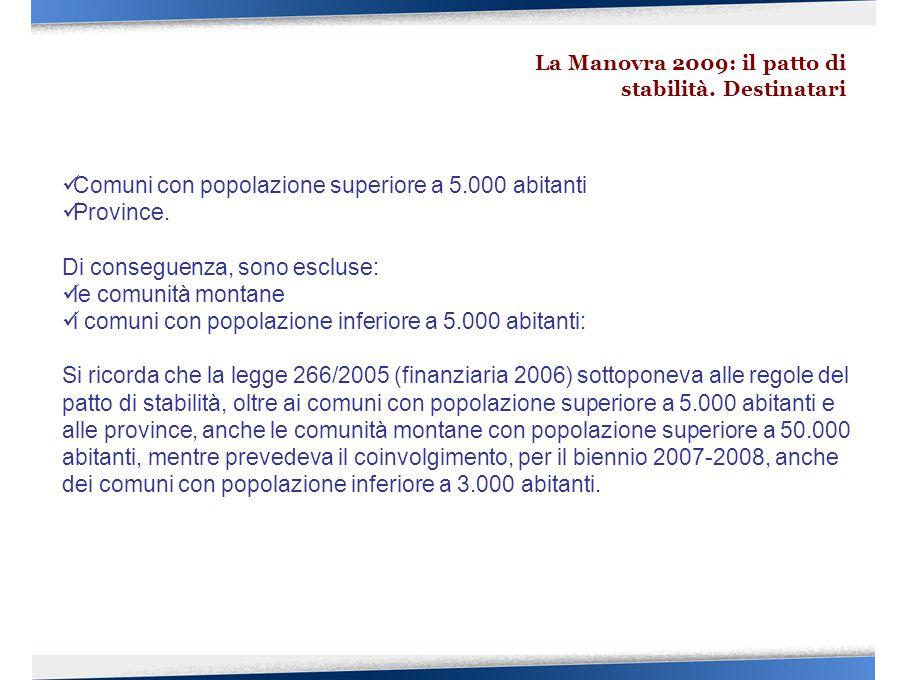 Comuni con popolazione superiore a 5.000 abitanti Province.