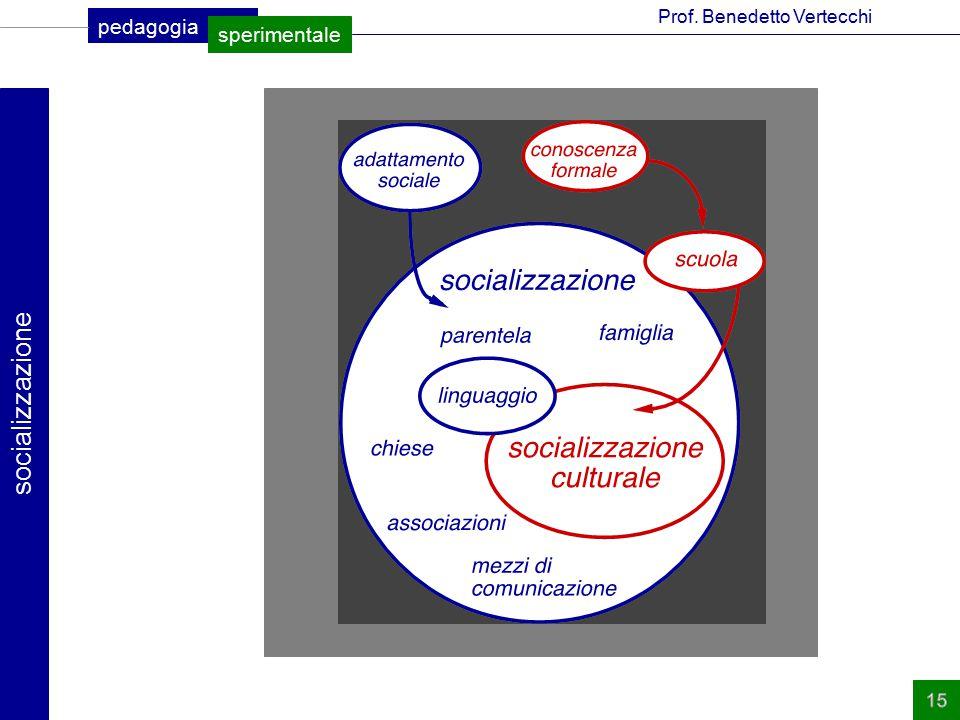 pedagogia sperimentale Prof. Benedetto Vertecchi socializzazione