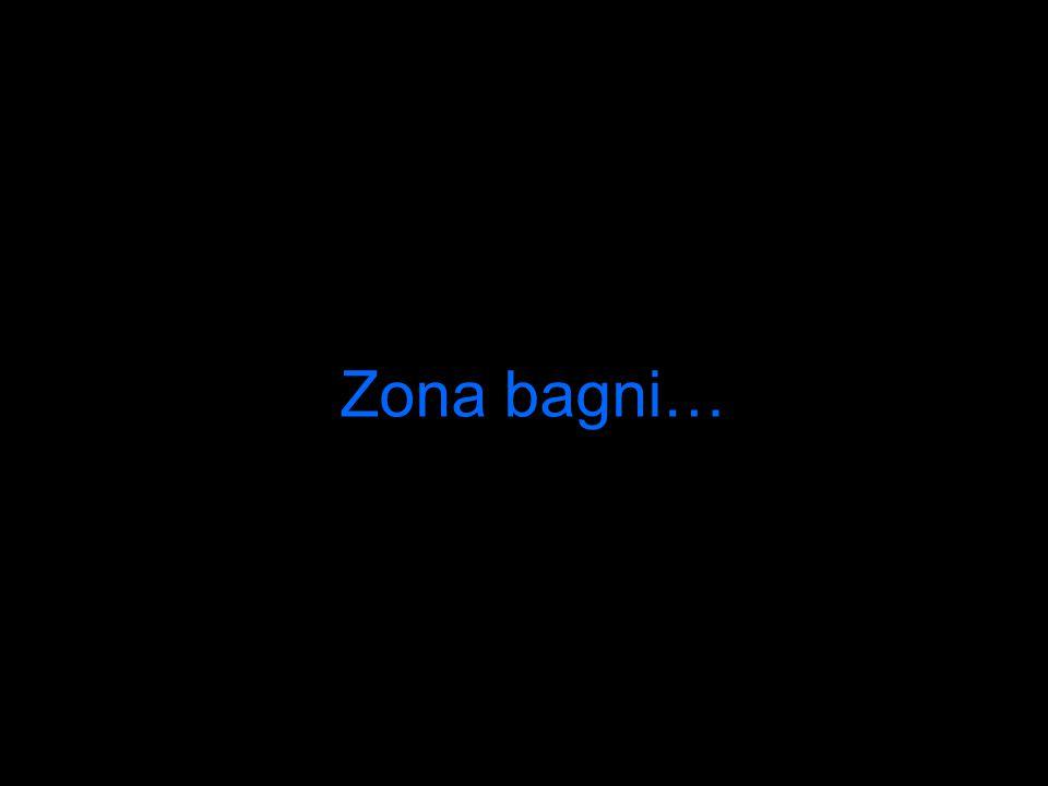 Zona bagni…