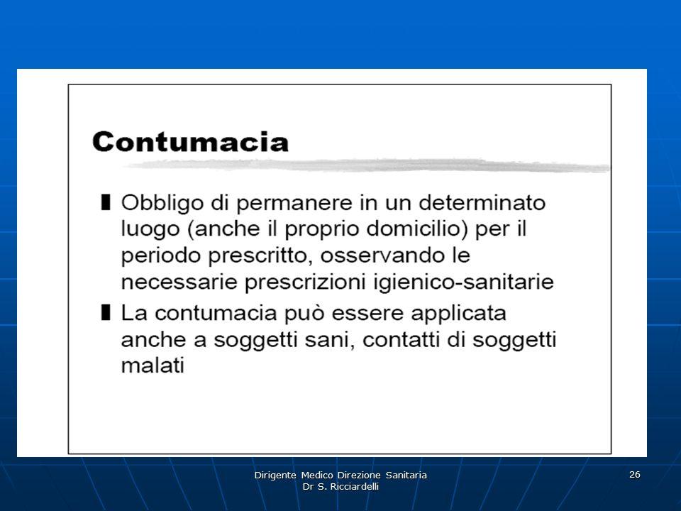 Dirigente Medico Direzione Sanitaria Dr S. Ricciardelli 26