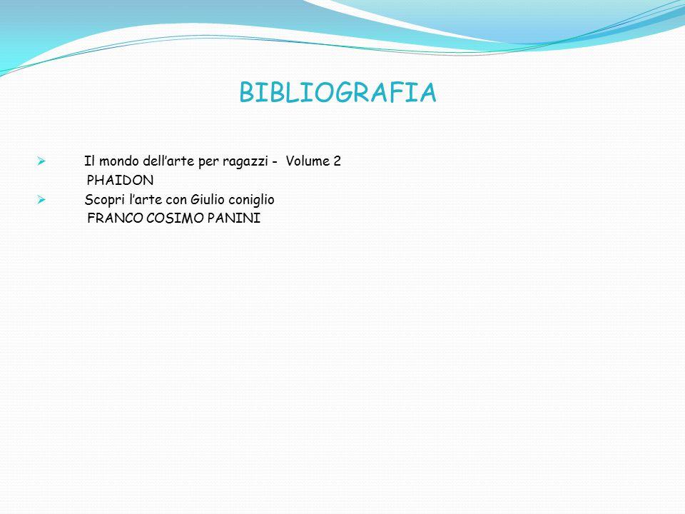 BIBLIOGRAFIA  Il mondo dell'arte per ragazzi - Volume 2 PHAIDON  Scopri l'arte con Giulio coniglio FRANCO COSIMO PANINI