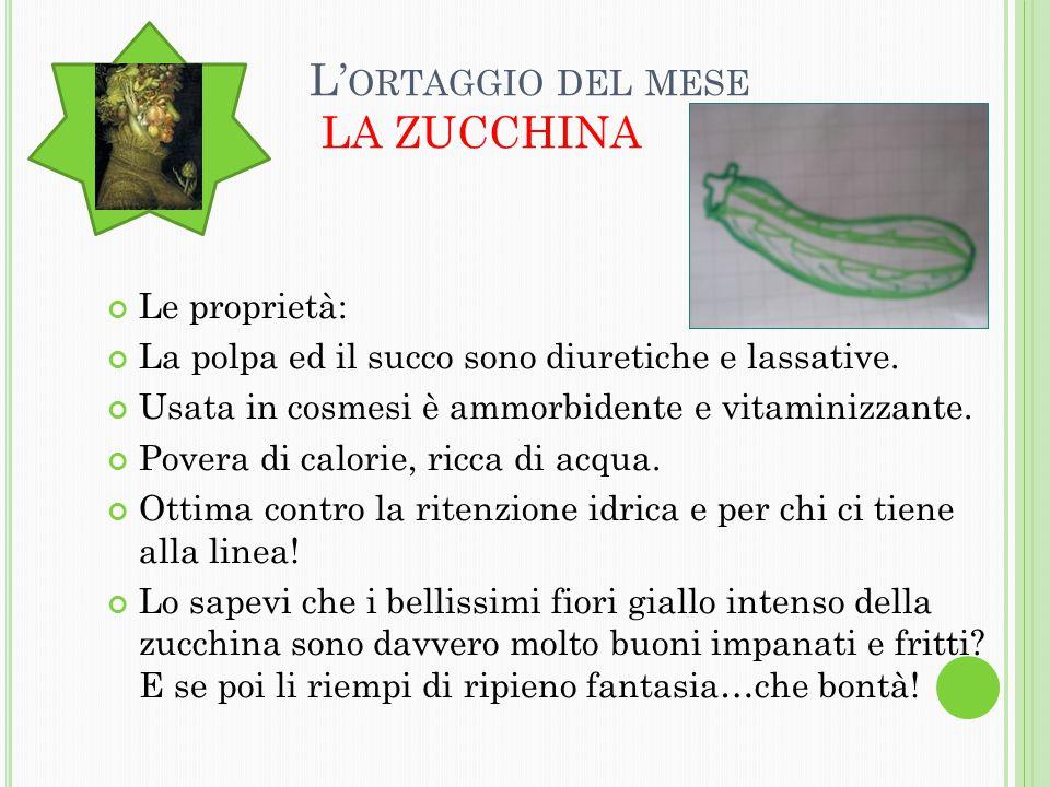 I L CON S IGLIO VERDE Le zucchine crescono molto in fretta ed in poco tempo possono diventare enormi.