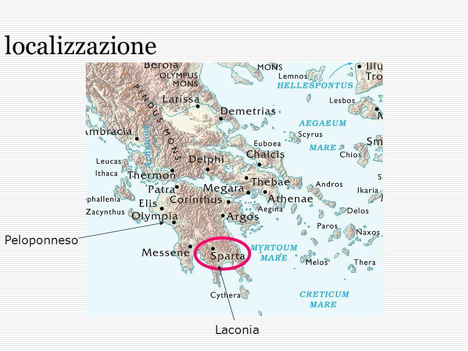 Fiume Eurota Monte Taigeto Situata nel Peloponneso, in una valle alluvionale creata dal fiume Eurota, è circondata da monti, tra cui il massiccio del Taigeto