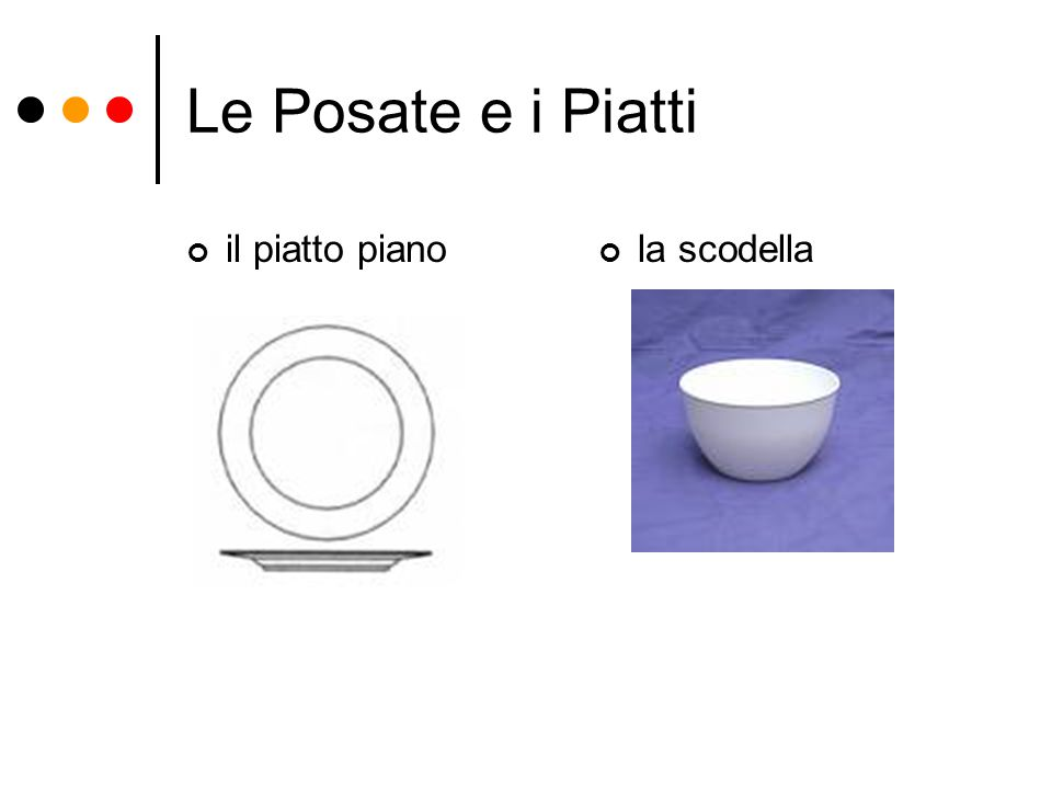 Le Posate e i Piatti il piatto pianola scodella