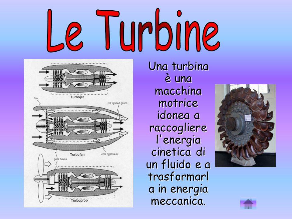 Una turbina è una macchina motrice idonea a raccogliere l'energia cinetica di un fluido e a trasformarl a in energia meccanica.