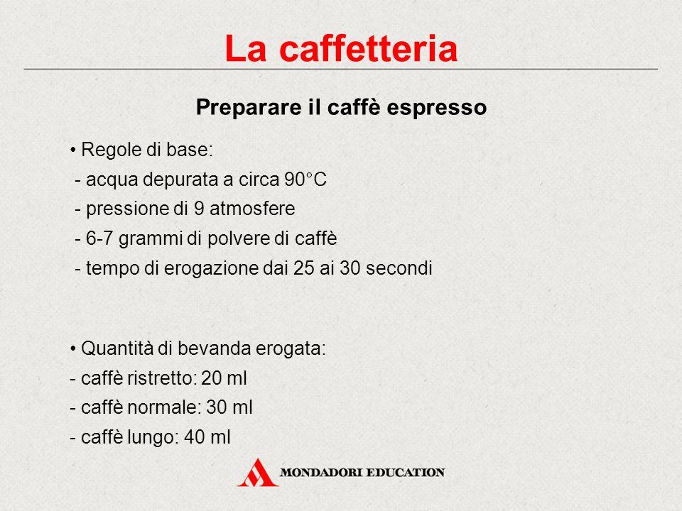 Il segreto di un caffè è dato dalla regola delle 4 M: M come macchina espressa M come macinadosatore M come miscela M come mano dell'operatore La caff