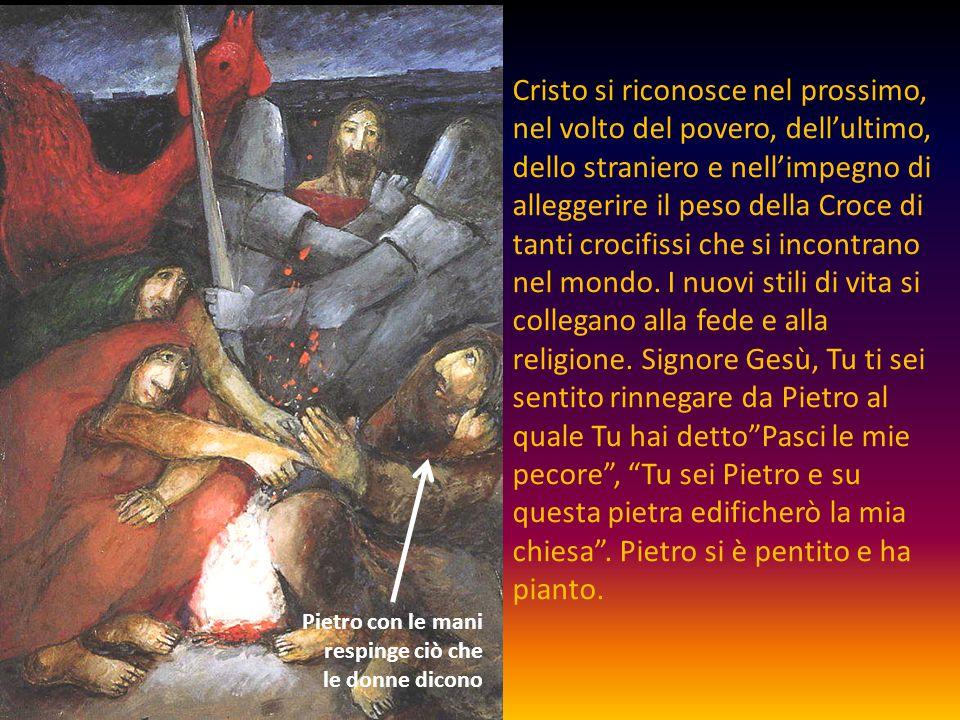 Cristo si riconosce nel prossimo, nel volto del povero, dell'ultimo, dello straniero e nell'impegno di alleggerire il peso della Croce di tanti crocif