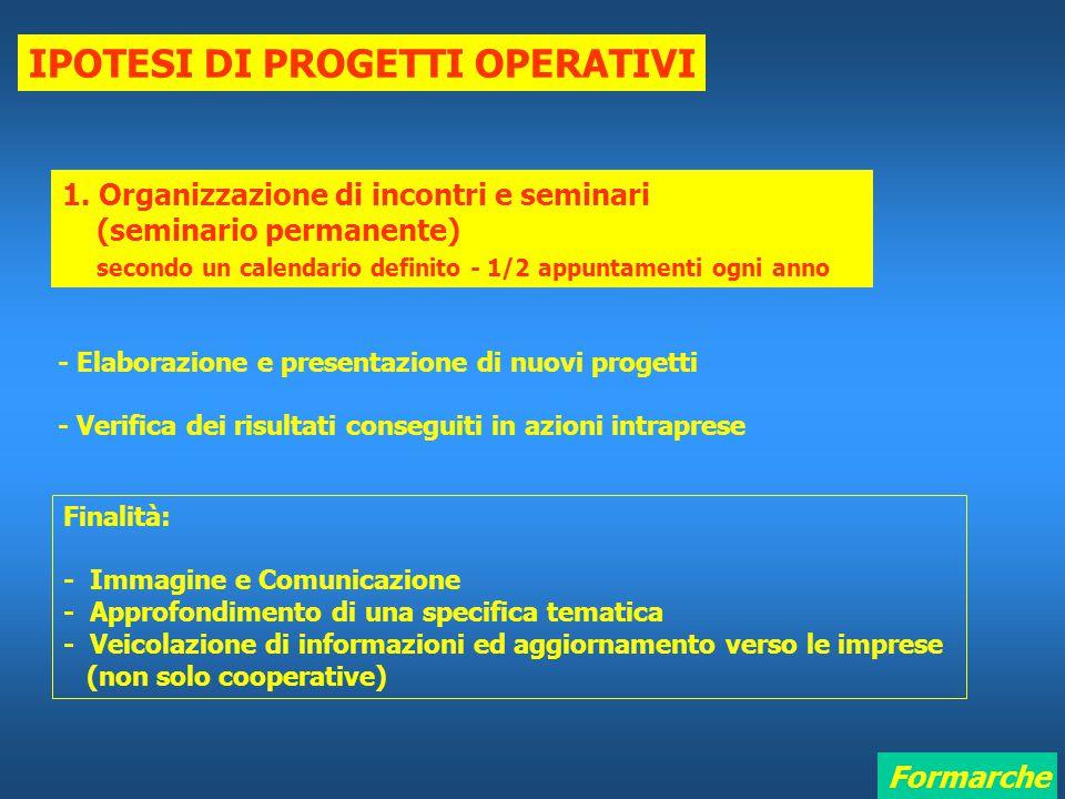 Formarche IPOTESI DI PROGETTI OPERATIVI 1.