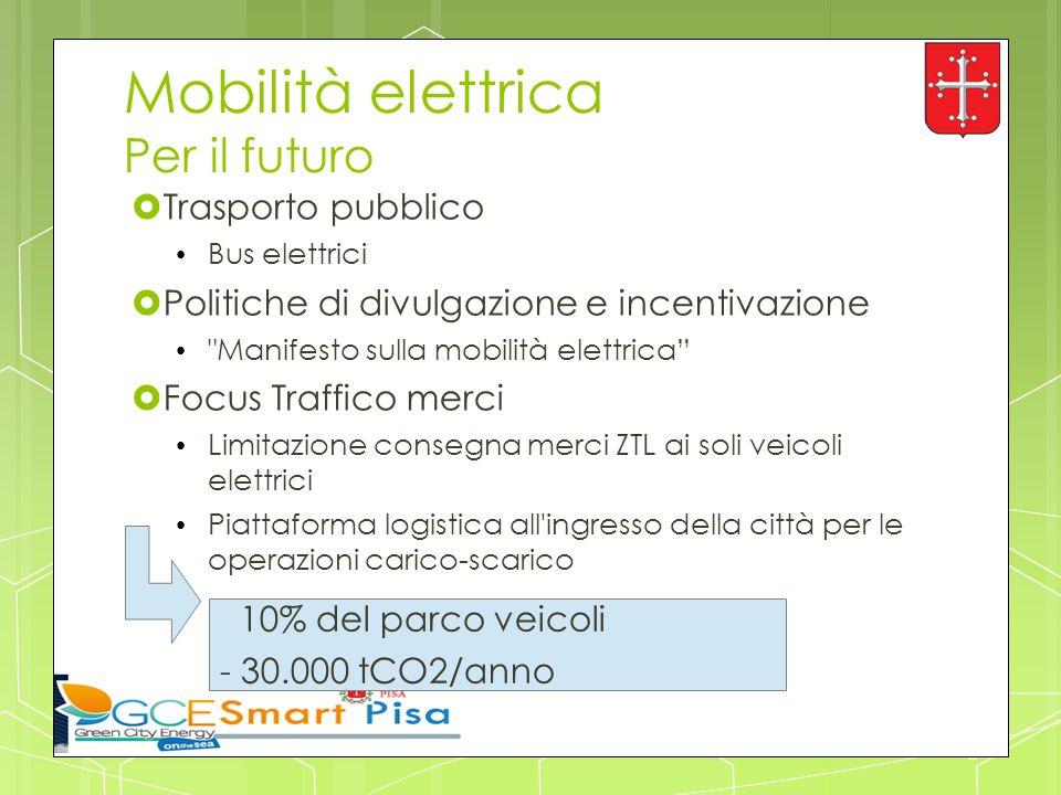 Mobilità elettrica Per il futuro  Trasporto pubblico Bus elettrici  Politiche di divulgazione e incentivazione