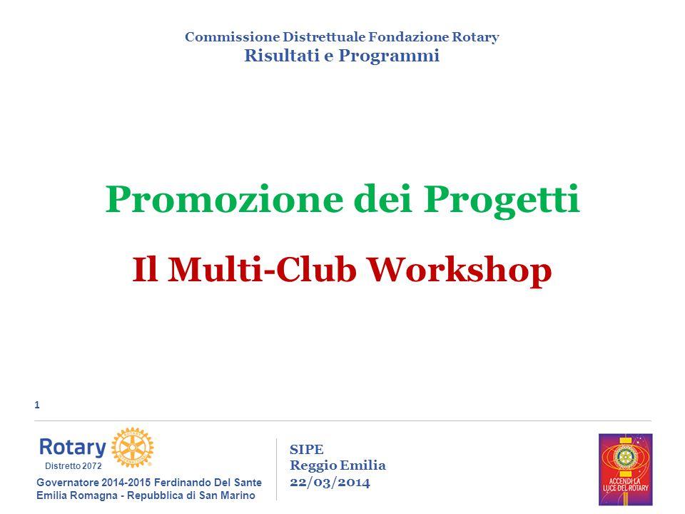 1 SIPE Reggio Emilia 22/03/2014 Commissione Distrettuale Fondazione Rotary Risultati e Programmi Governatore 2014-2015 Ferdinando Del Sante Emilia Rom