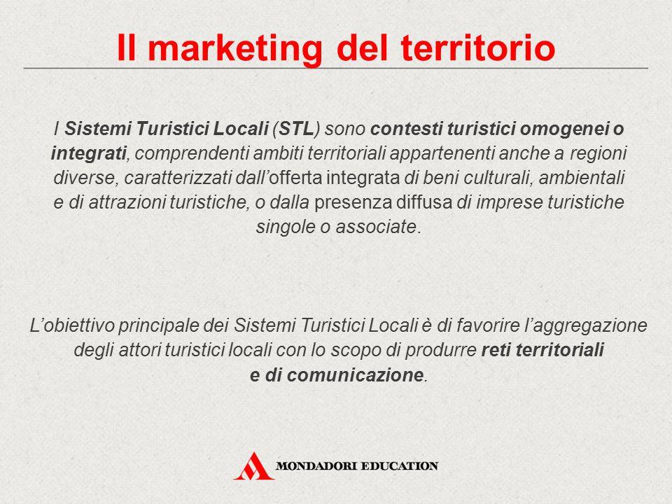 I Sistemi Turistici Locali (STL) sono contesti turistici omogenei o integrati, comprendenti ambiti territoriali appartenenti anche a regioni diverse,