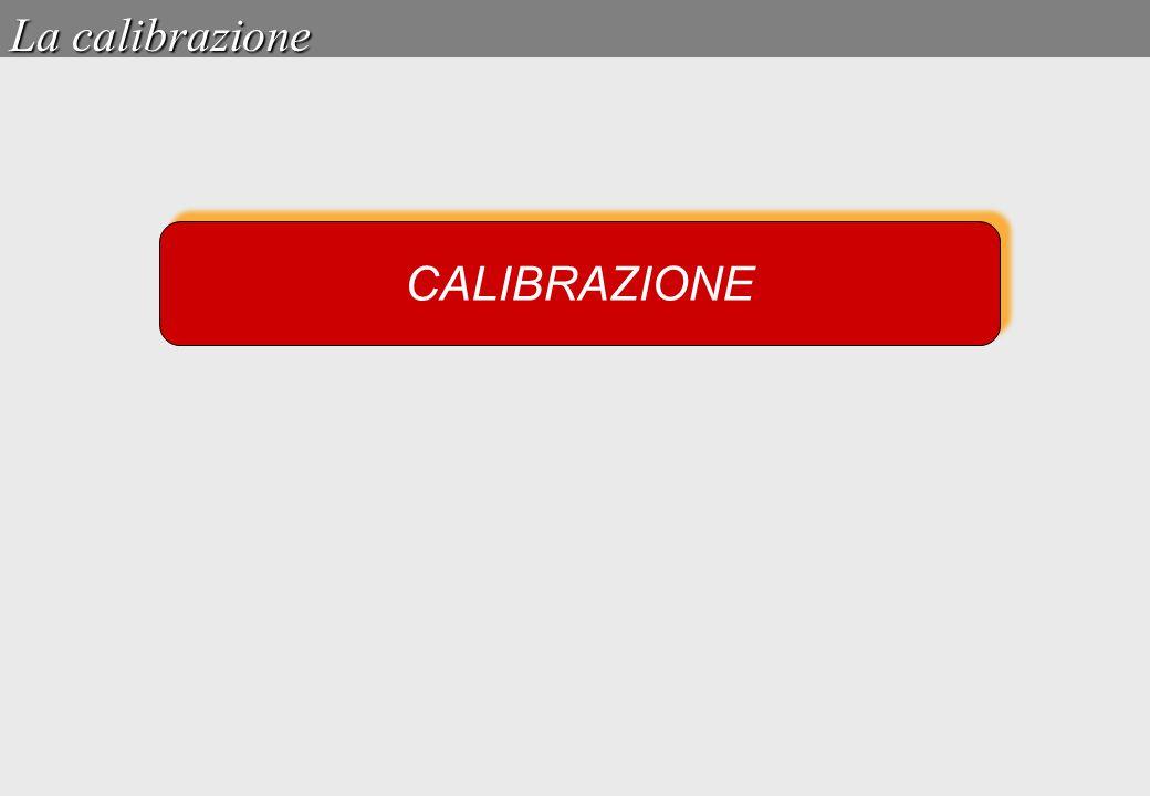 CALIBRAZIONE La calibrazione