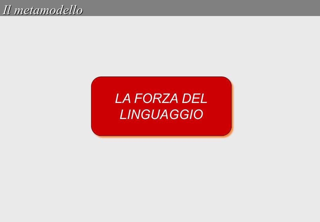 LA FORZA DEL LINGUAGGIO LA FORZA DEL LINGUAGGIO Il metamodello