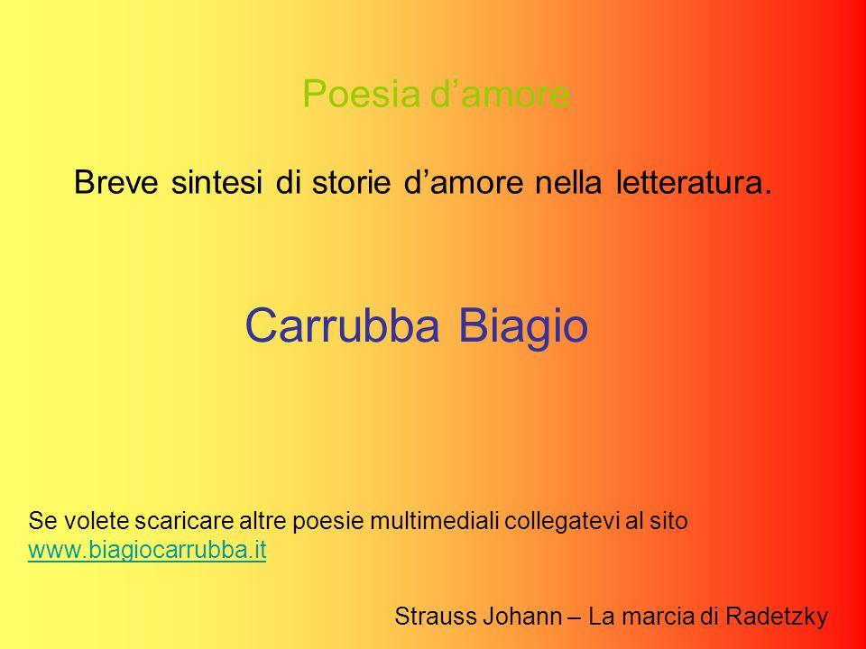 Poesia d'amore Breve sintesi di storie d'amore nella letteratura.