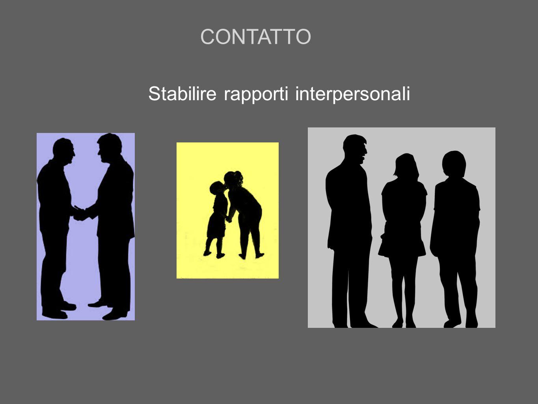 Stabilire rapporti interpersonali CONTATTO