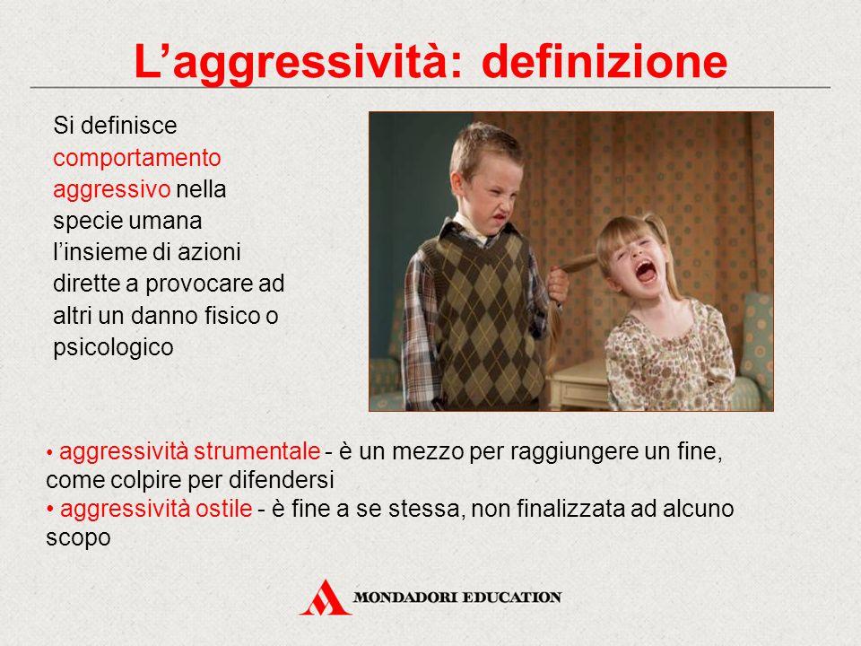 Si definisce comportamento aggressivo nella specie umana l'insieme di azioni dirette a provocare ad altri un danno fisico o psicologico aggressività s