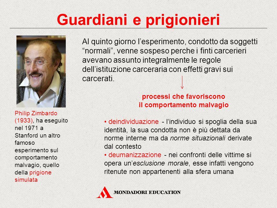 Philip Zimbardo (1933), ha eseguito nel 1971 a Stanford un altro famoso esperimento sul comportamento malvagio, quello della prigione simulata Al quin