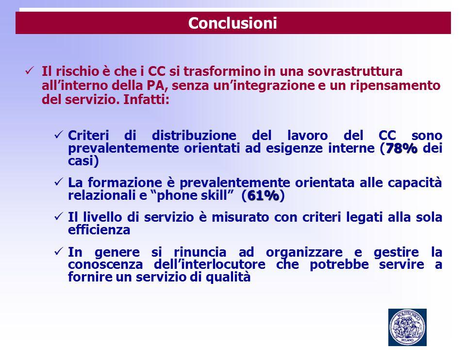 Il rischio è che i CC si trasformino in una sovrastruttura all'interno della PA, senza un'integrazione e un ripensamento del servizio.