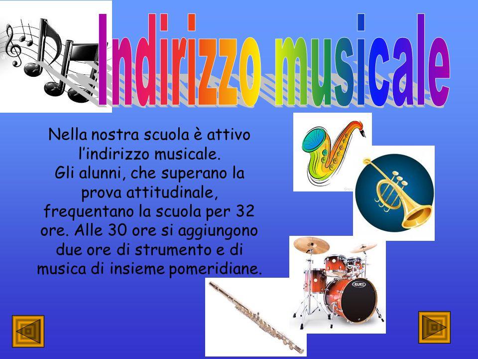 Nella nostra scuola è attivo l'indirizzo musicale.