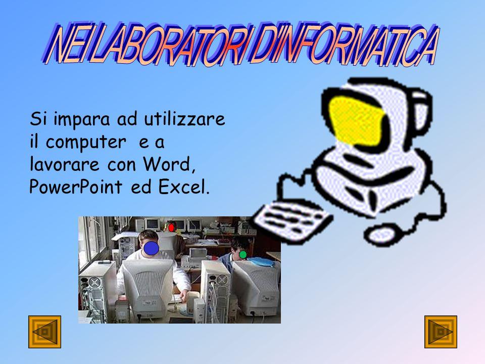 Si impara ad utilizzare il computer e a lavorare con Word, PowerPoint ed Excel.