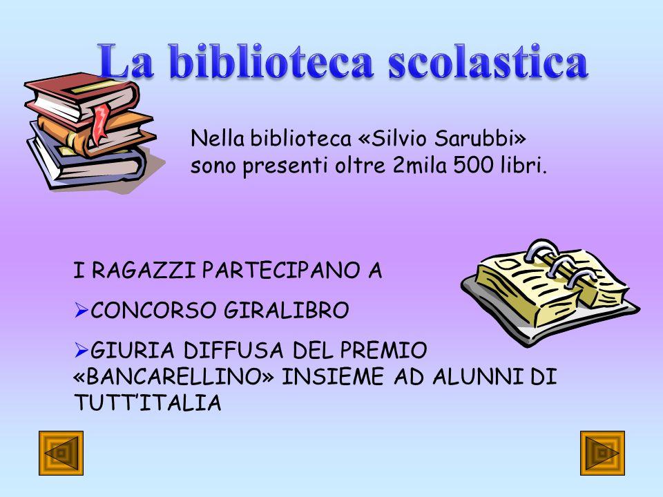 Nella biblioteca «Silvio Sarubbi» sono presenti oltre 2mila 500 libri.