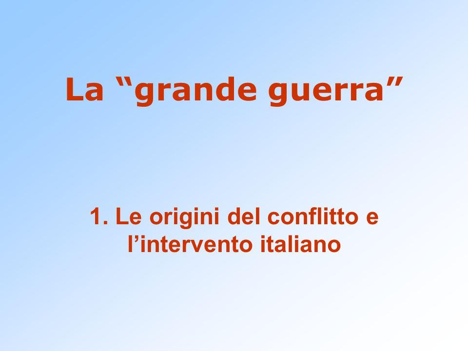 La grande guerra 1. Le origini del conflitto e l'intervento italiano