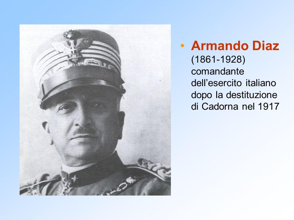 Armando Diaz (1861-1928) comandante dell'esercito italiano dopo la destituzione di Cadorna nel 1917