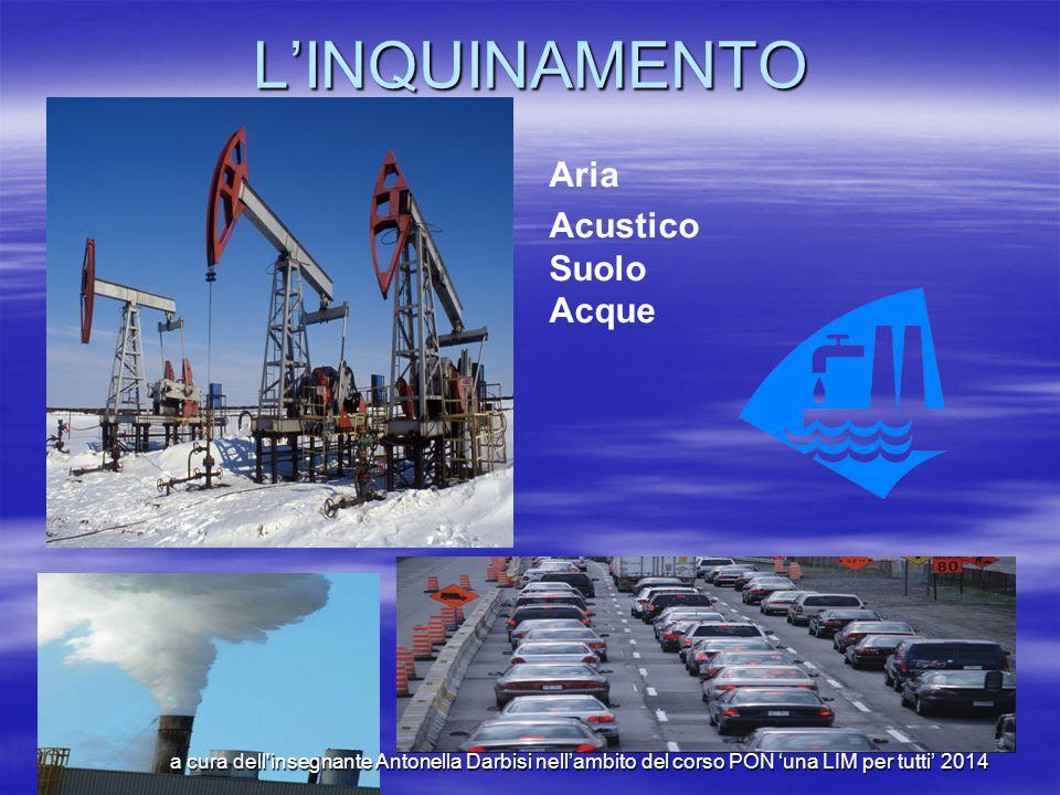L'inquinamento L'inquinamento è un'alterazione dell'ambiente, e può essere di origine naturale o artificiale.