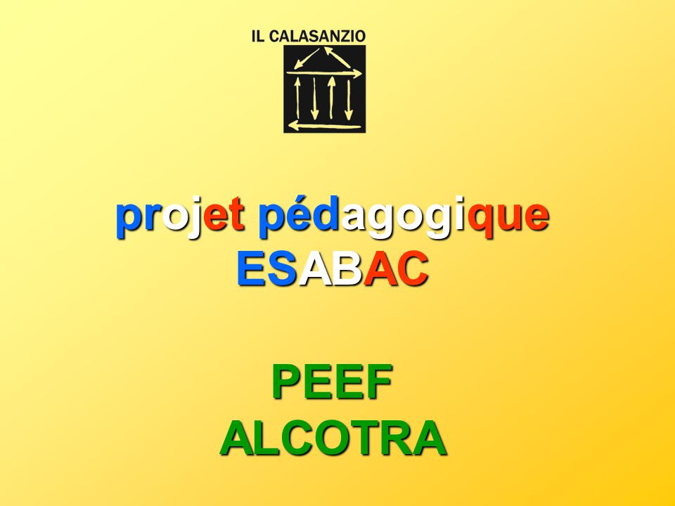 projet pédagogique ESABAC PEEF ALCOTRA