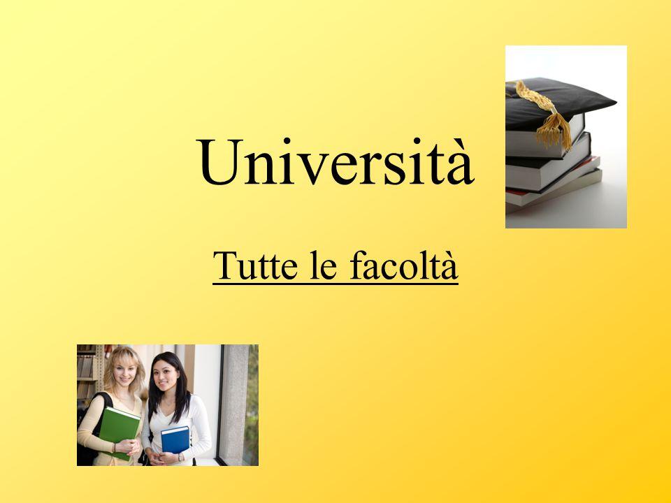 Università Tutte le facoltà