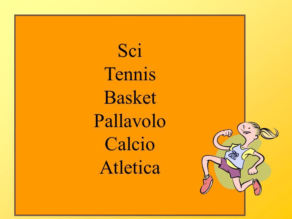 Sci Tennis Basket Pallavolo Calcio Atletica