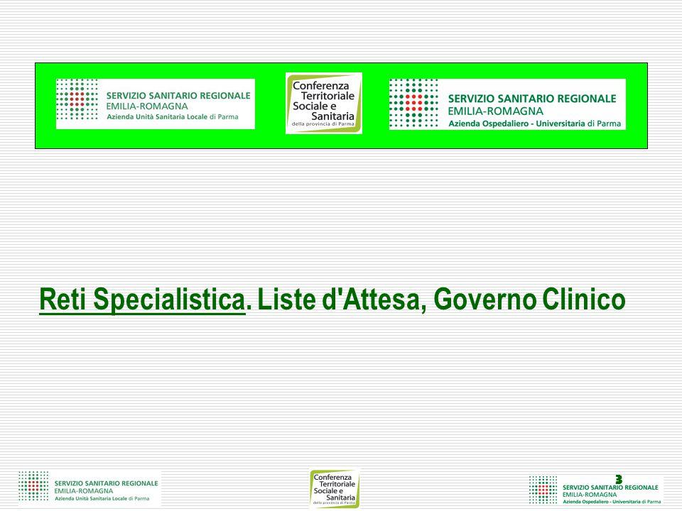 3 Reti Specialistica. Liste d Attesa, Governo Clinico