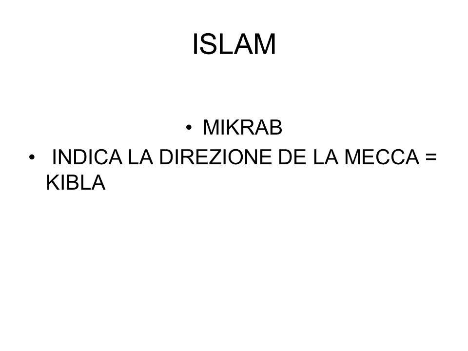 ISLAM MIKRAB INDICA LA DIREZIONE DE LA MECCA = KIBLA