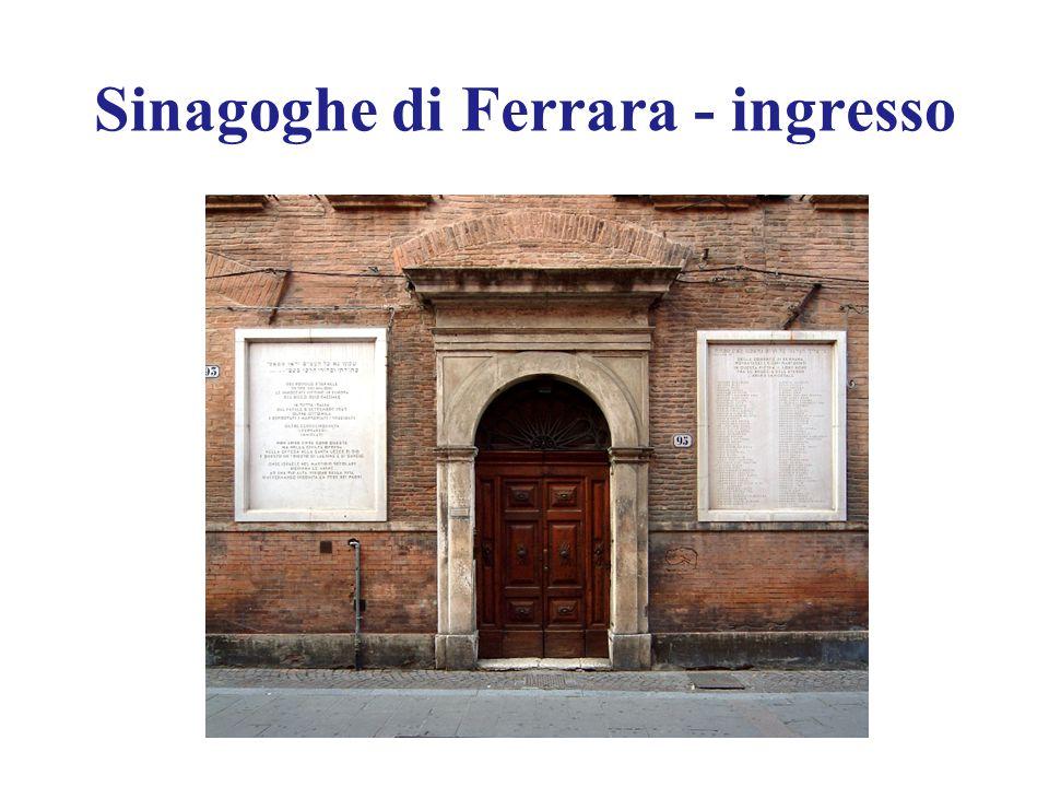 Sinagoghe di Ferrara - ingresso