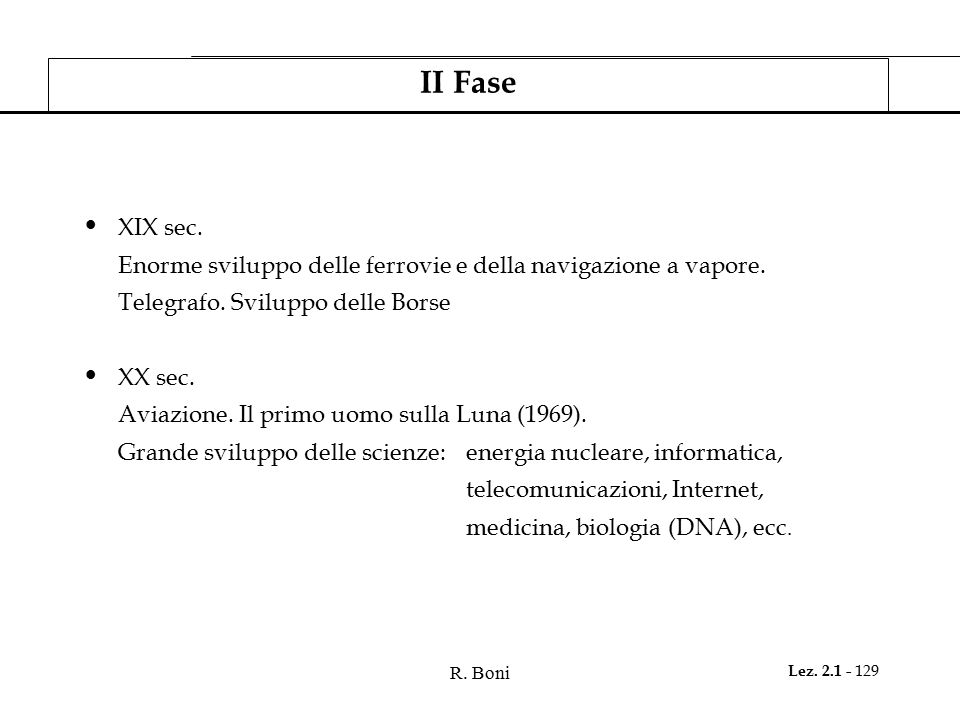 R.Boni Lez. 2.1 - 129 II Fase XIX sec.