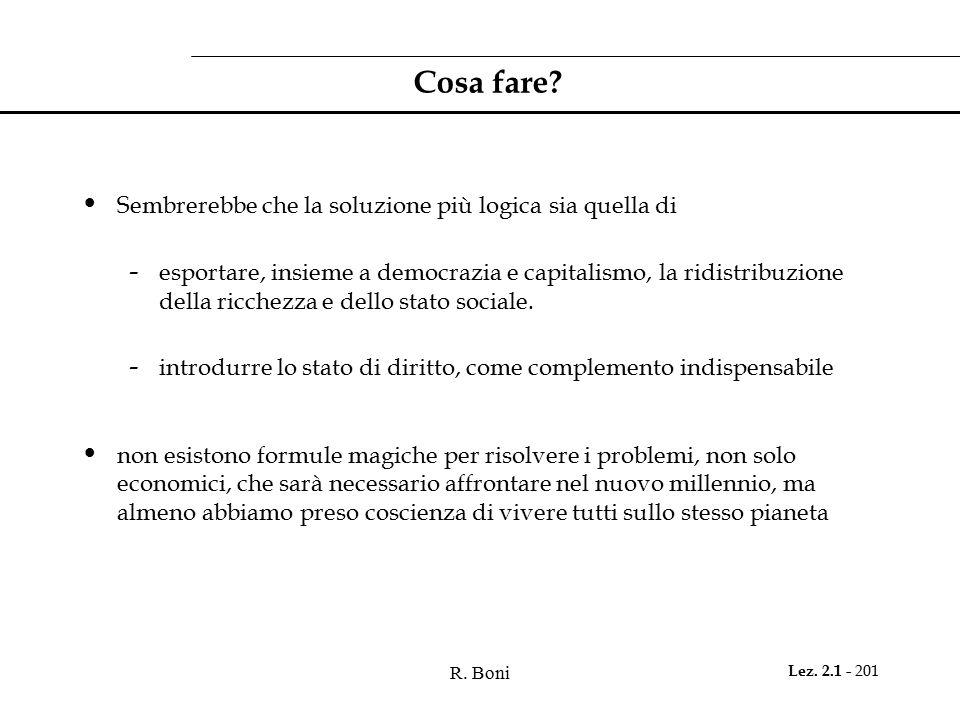 R.Boni Lez. 2.1 - 201 Cosa fare.