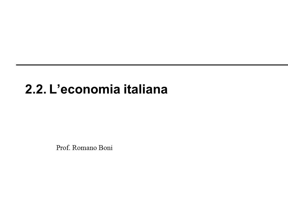 R. Boni Lez. 2.1 - 100 Prof. Romano Boni 2.7. La crisi Petrolifera