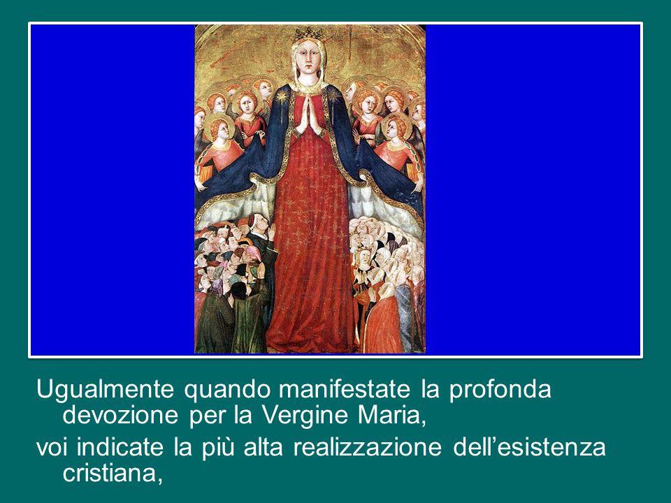 voi indicate la centralità del Mistero Pasquale del Signore, della sua Passione, Morte e Risurrezione, che ci ha redenti, e indicate a voi stessi per