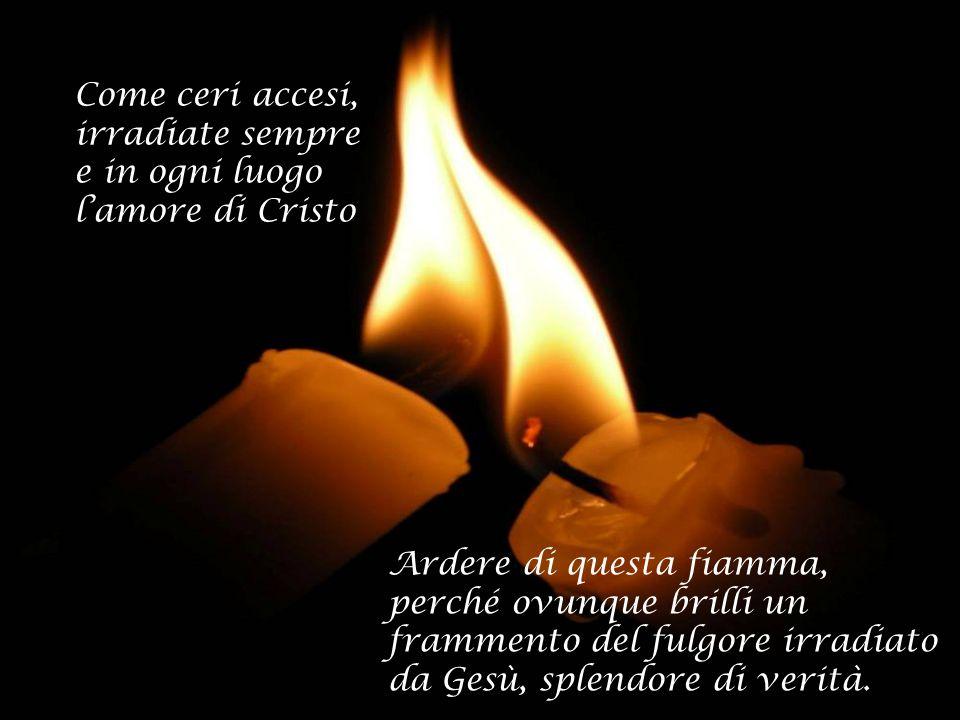 COME CERI ACCESI La vita consacrata secondo Benedetto XVI e gli Atti del XXVI CG