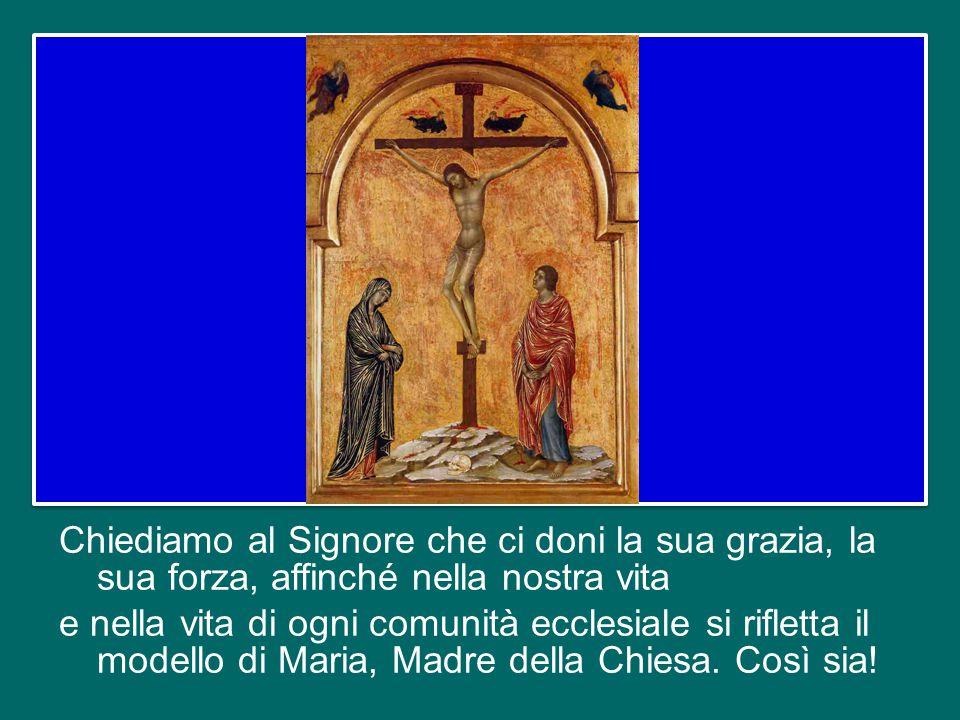 E' molto bella questa realtà che Maria ci insegna: l'essere sempre uniti a Gesù. Possiamo chiederci: ci ricordiamo di Gesù solo quando qualcosa non va