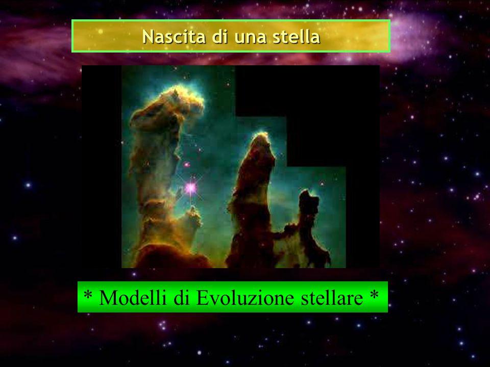 Nascita di una stella * Modelli di Evoluzione stellare *