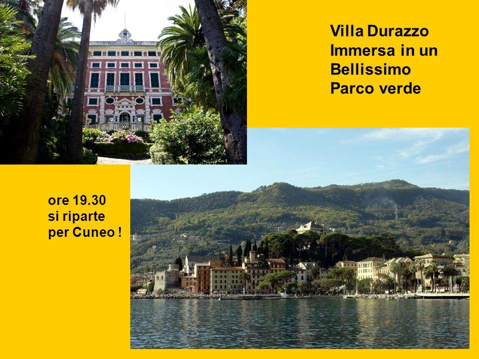 Villa Durazzo Immersa in un Bellissimo Parco verde ore 19.30 si riparte per Cuneo !