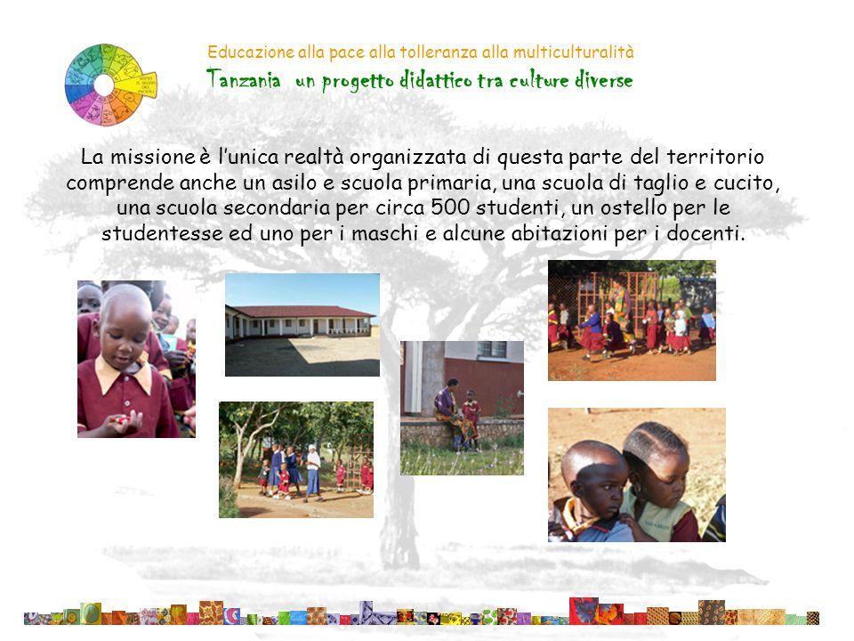 Educazione alla pace alla tolleranza alla multiculturalità Tanzania un progetto didattico tra culture diverse La scuola secondaria è dotata di una diecina di aule, un laboratorio di computer, un laboratorio di chimica ed uno di fisica, arriva fino al quarto anno, ed è frequentata da giovani tra i 14 ed i 18 anni.