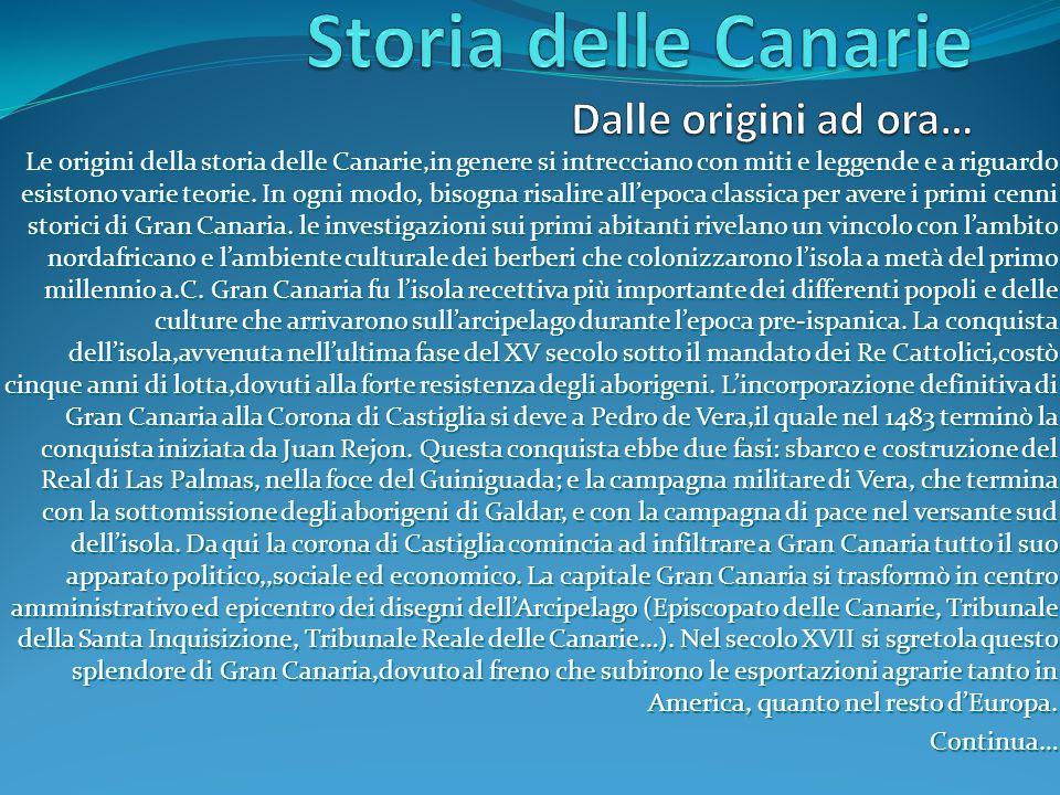 Le origini della storia delle Canarie,in genere si intrecciano con miti e leggende e a riguardo esistono varie teorie.